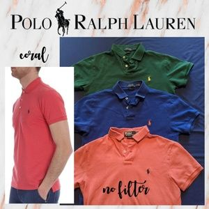 Men's Polo Ralph Lauren CORAL Custom Slim Fit Polo